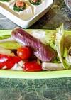 レンジスチーマー☆夏野菜とカレイのマリネ
