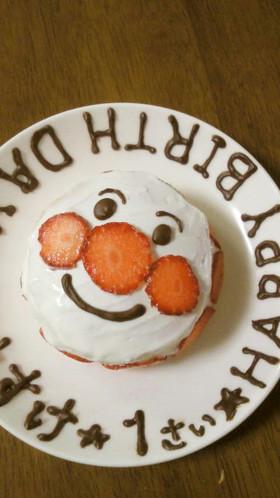 誕生日☆アンパンマンケーキ
