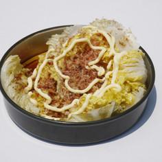 白菜のソーラー丸太蒸し