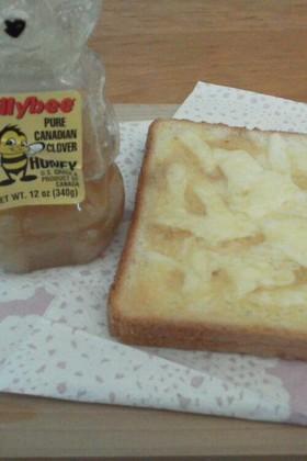朝食に☆ハニーチーズトースト