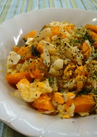 キャベツ入り♪かぼちゃとゆで卵のサラダ♥