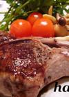 ラム肉のソテー・バルサミコソース