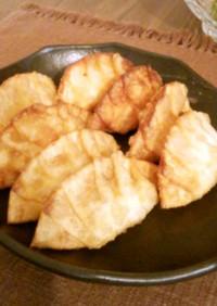 ゆで卵と餃子の皮で揚げ物