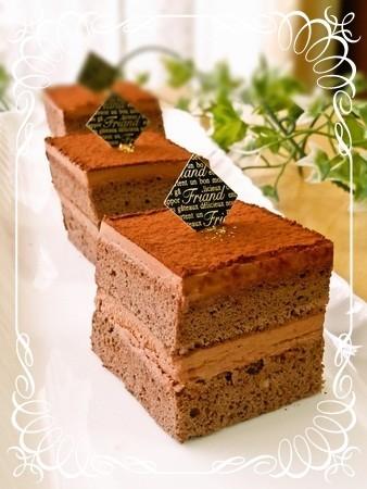 シフォン生地で簡単チョコレートケーキ