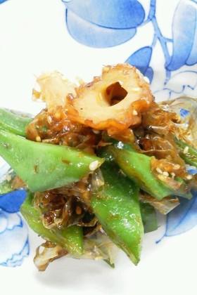 モロッコ豆と竹輪の炒め煮