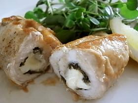 鶏の海苔クリームチーズ巻き醤油ソテー