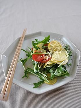 ズッキーニと水菜のサラダ