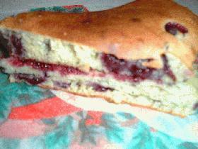 ブルーベリーのトースターケーキ