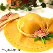 麦わら帽子のデコオムライス*キャラ弁の写真