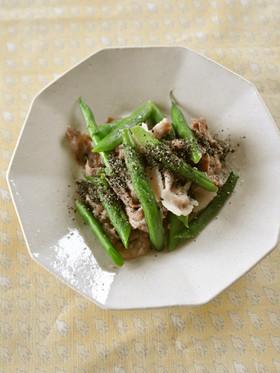 インゲンと豚肉のナンプラー炒め