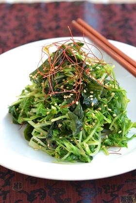水菜とわかめのピリ辛ナムル【作り置き】