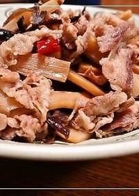 豚こまメンマときくらげの炒め煮