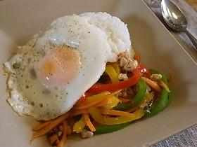 ガパオ★うちのシンプル鶏バジル炒めご飯