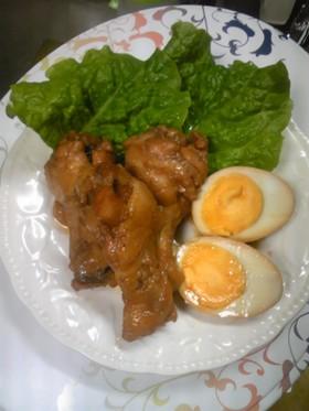 お酢でトロン~簡単分量☆手羽元&ゆで卵煮