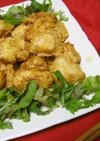 鶏むね肉でとり天✿卵なし酢入り天ぷら衣②