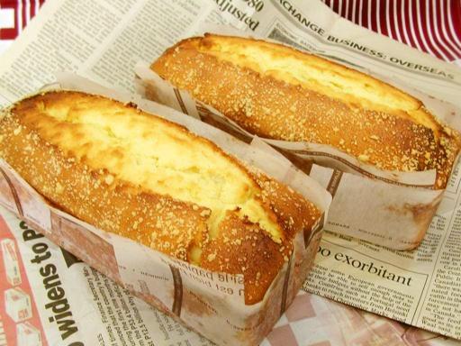 ふんわりクリームチーズのパウンドケーキ