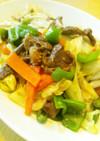 牛肉の味噌野菜炒め