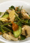 鶏もも肉と山菜の中華風サラダ