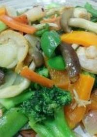 管理栄養士お勧め♪えびとホタテの野菜炒め