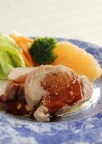 塩豚のバルサミコソース