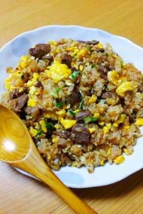 焼き肉のタレで☆ピリ辛チャーハン☆