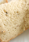 残ったご飯で♪早焼きHB米粉雑穀パン風