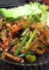 韓国料理☆タコの辛炒め(ナクチポックン)