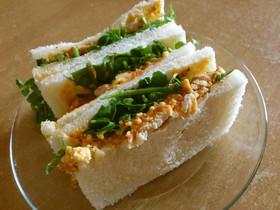 トマトチキンとクレソンのサンドイッチ