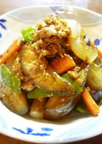 冷凍吉牛でピリ辛茄子炒め(o^-')b