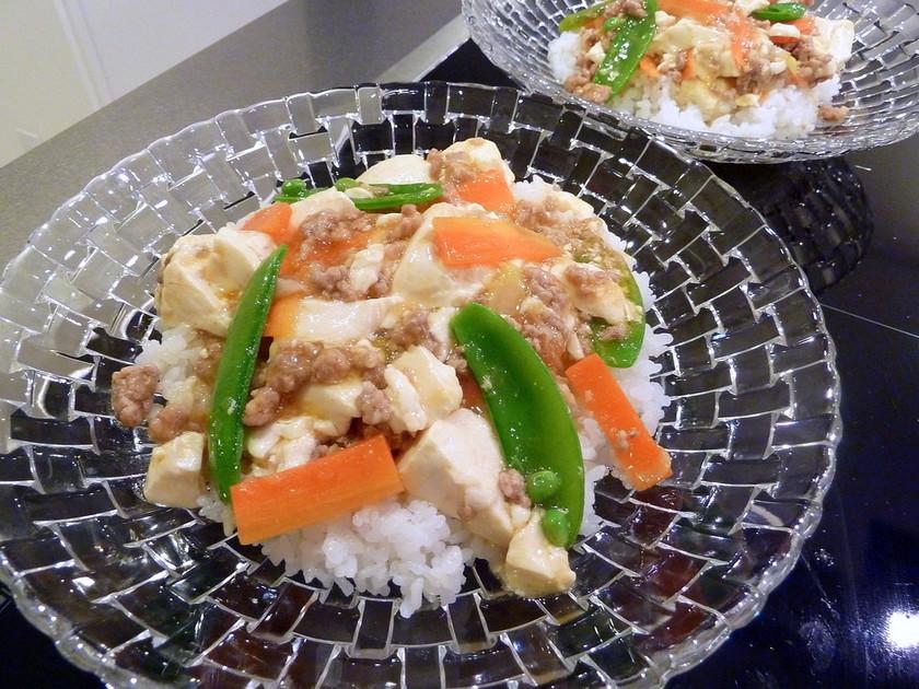 あっさり麻婆豆腐丼 ~塩麹レシピ