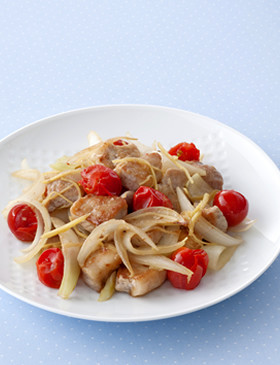 【栄養士直伝】豚肉トマトのさっぱり生姜焼