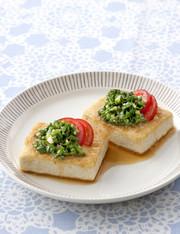 【栄養士直伝】ニラでスタミナ豆腐ステーキの写真