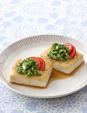 【栄養士直伝】ニラでスタミナ豆腐ステーキ