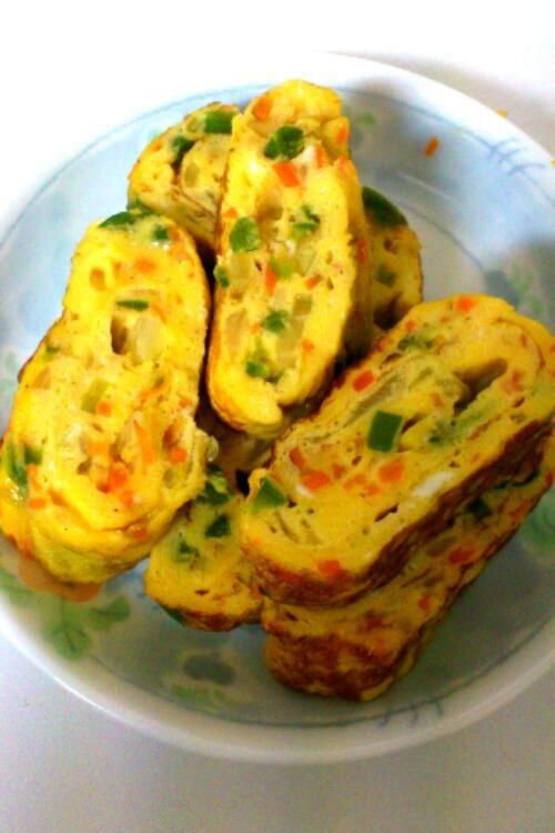 野菜入り卵焼き