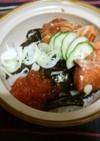 北海漬け鮭&いくら丼
