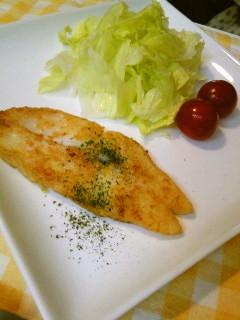 白身魚ならなんでも☆カレイカレー風味焼き