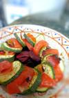 簡単シンプル★ズッキーニとトマト重ね焼き