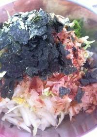 生食!白菜のおかかサラダ