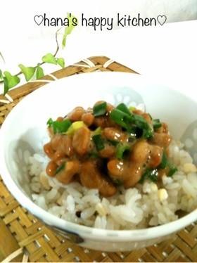 ❀食べるラー油の納豆ぶっかけご飯❀