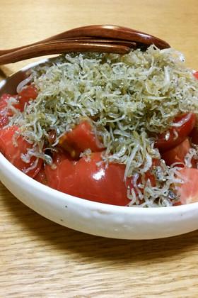 超簡単! トマトとカリカリじゃこのサラダ