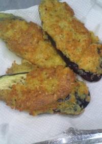 ヘルシーサクサクなすびのチーズパン粉焼き