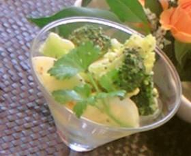 ブロッコリーとゆで卵のカクテルサラダ