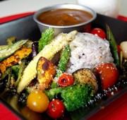 薬膳カレーde夏の焼き野菜フォンデュ風♪の写真