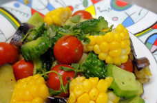 夏野菜のイタリアンガーリックソテー