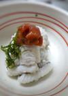 夏の味覚☆鱧の湯引き☆梅肉風味