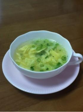 ウェイパーで作る☆簡単な卵スープ