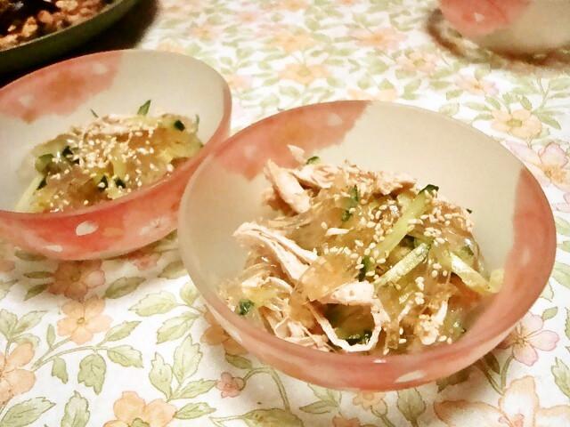 寒天ダイエット♫中華風サラダ