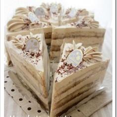 ソイカフェ♪コーヒーの豆乳ショートケーキ