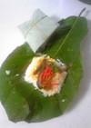 おもてなし料理に!ホウバ香るホウバ寿司