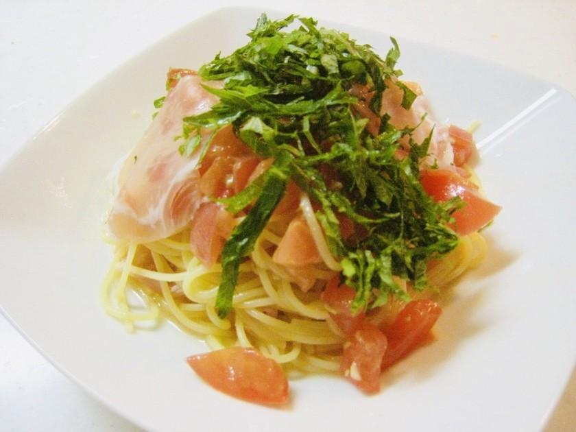 時短!美味!トマトと生ハムの冷製パスタ